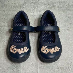 """Tucker + Tate Navy Mary Jane Strap Faux Leather """"L"""